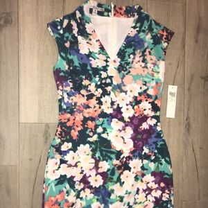 Maggie London floral dress NWT
